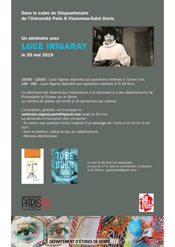 séminaire Irigaray-Paris 8-1